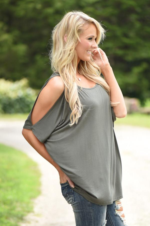 Heart on My Sleeve Top - Olive