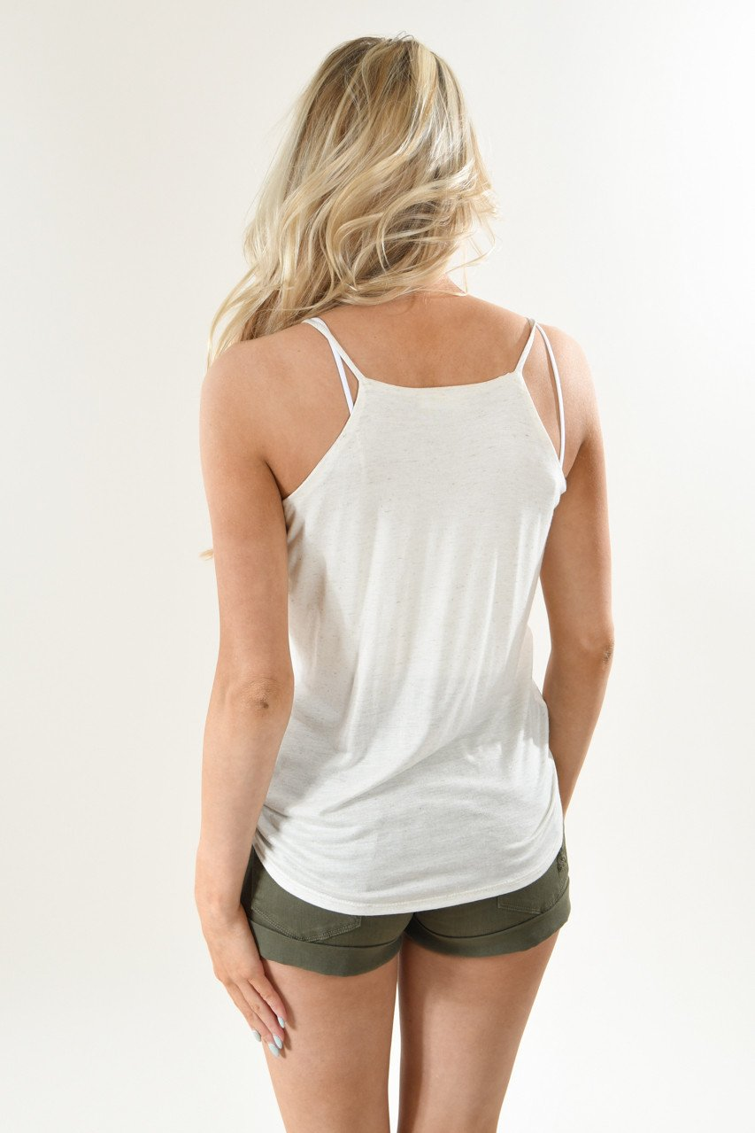 Cream Crossover Tank Top