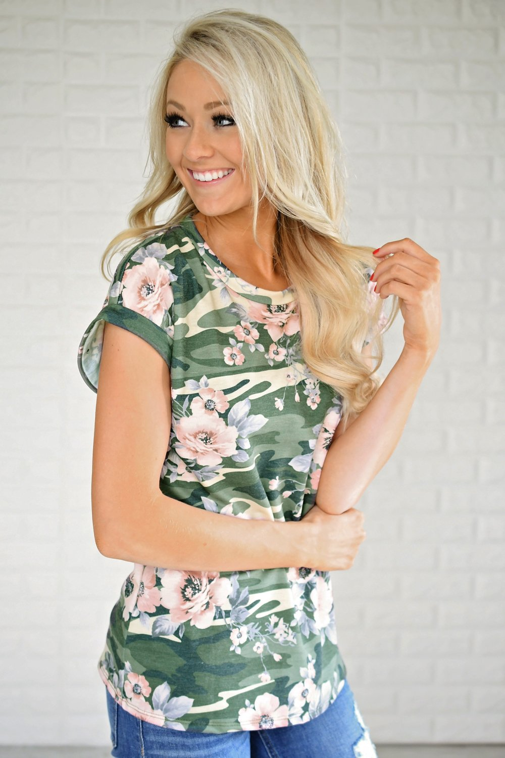 My favorite Camo & Floral Tee