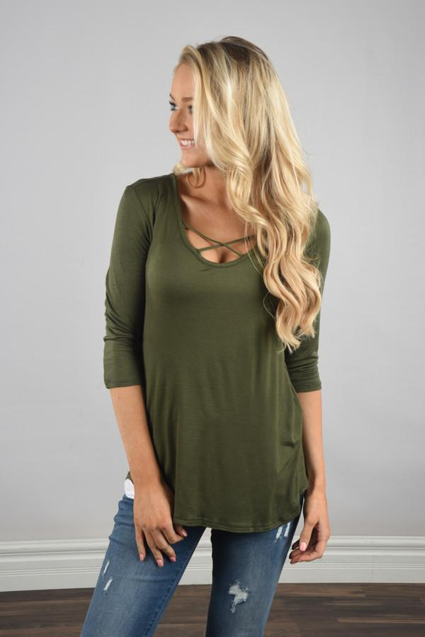 Criss Cross My Heart - Olive