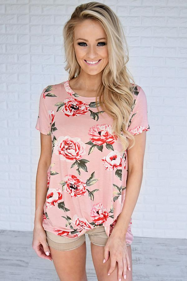 Everyday Beauty Floral Top ~ Pink