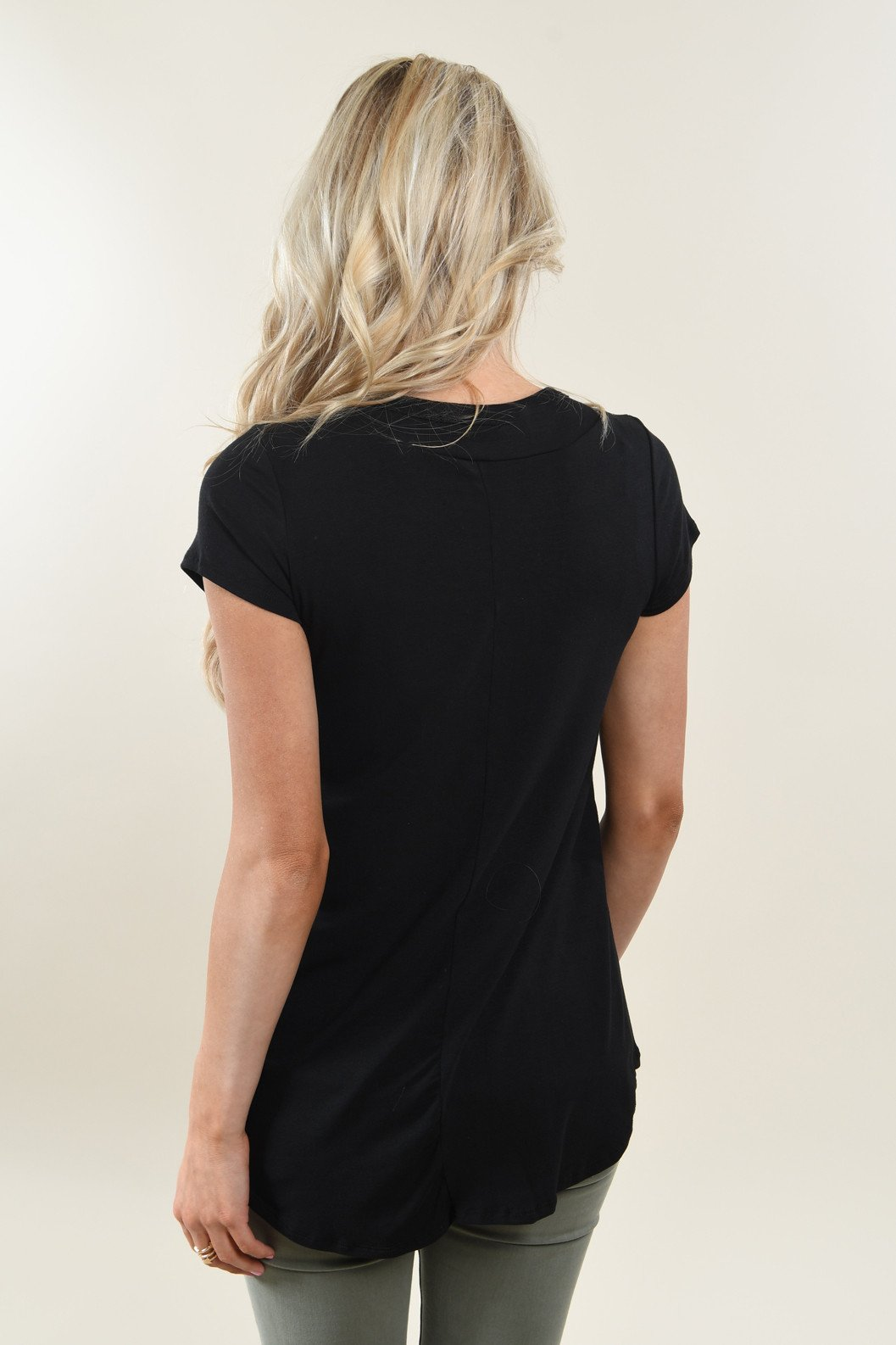 The Promise Criss Cross Top ~ Black