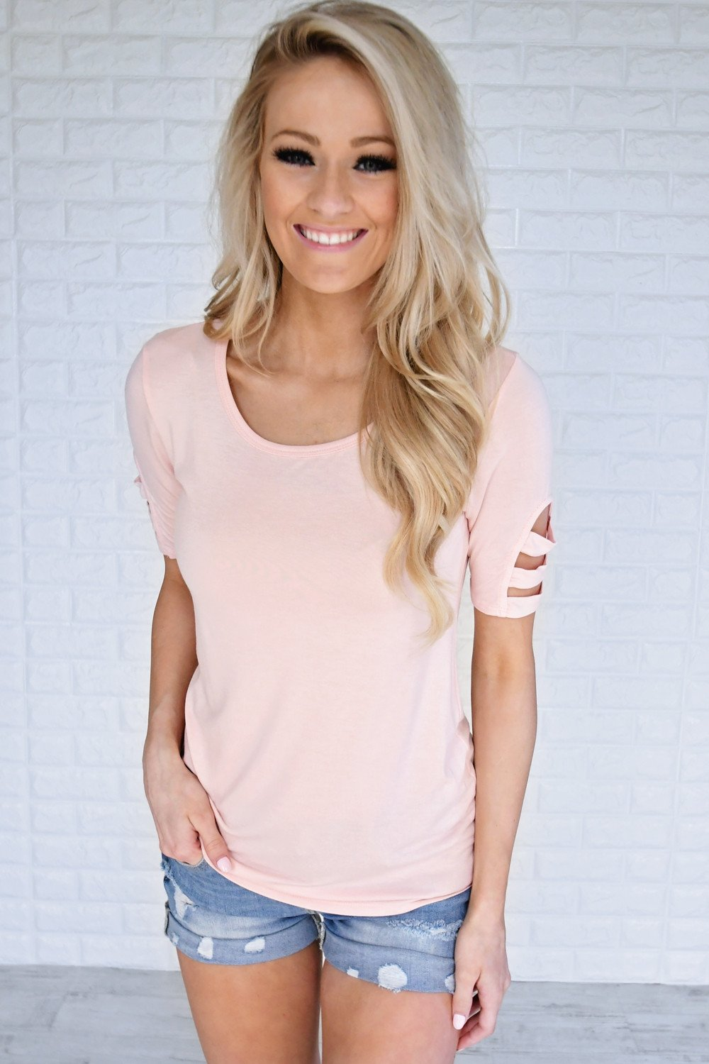 Day Off Light Pink Top