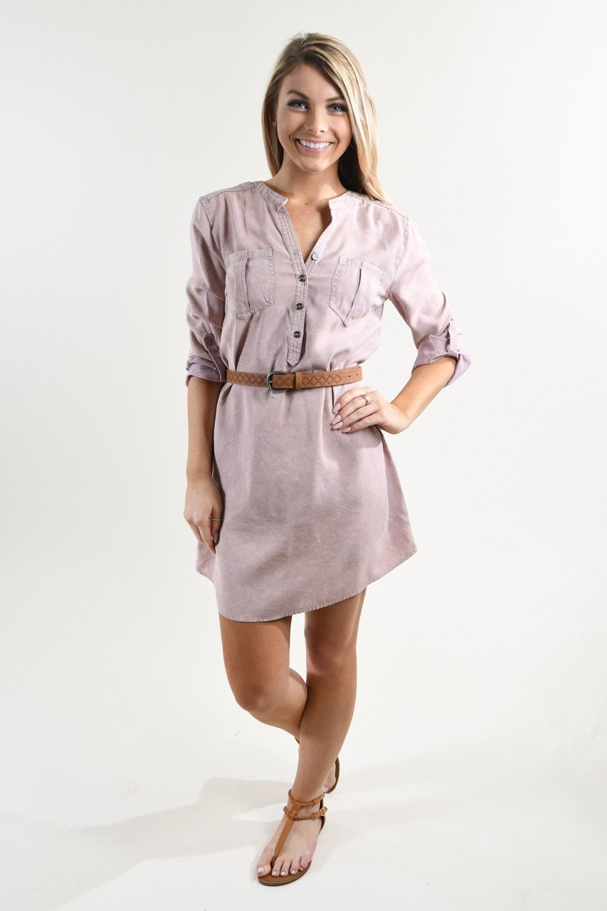 Pink Denim Dress