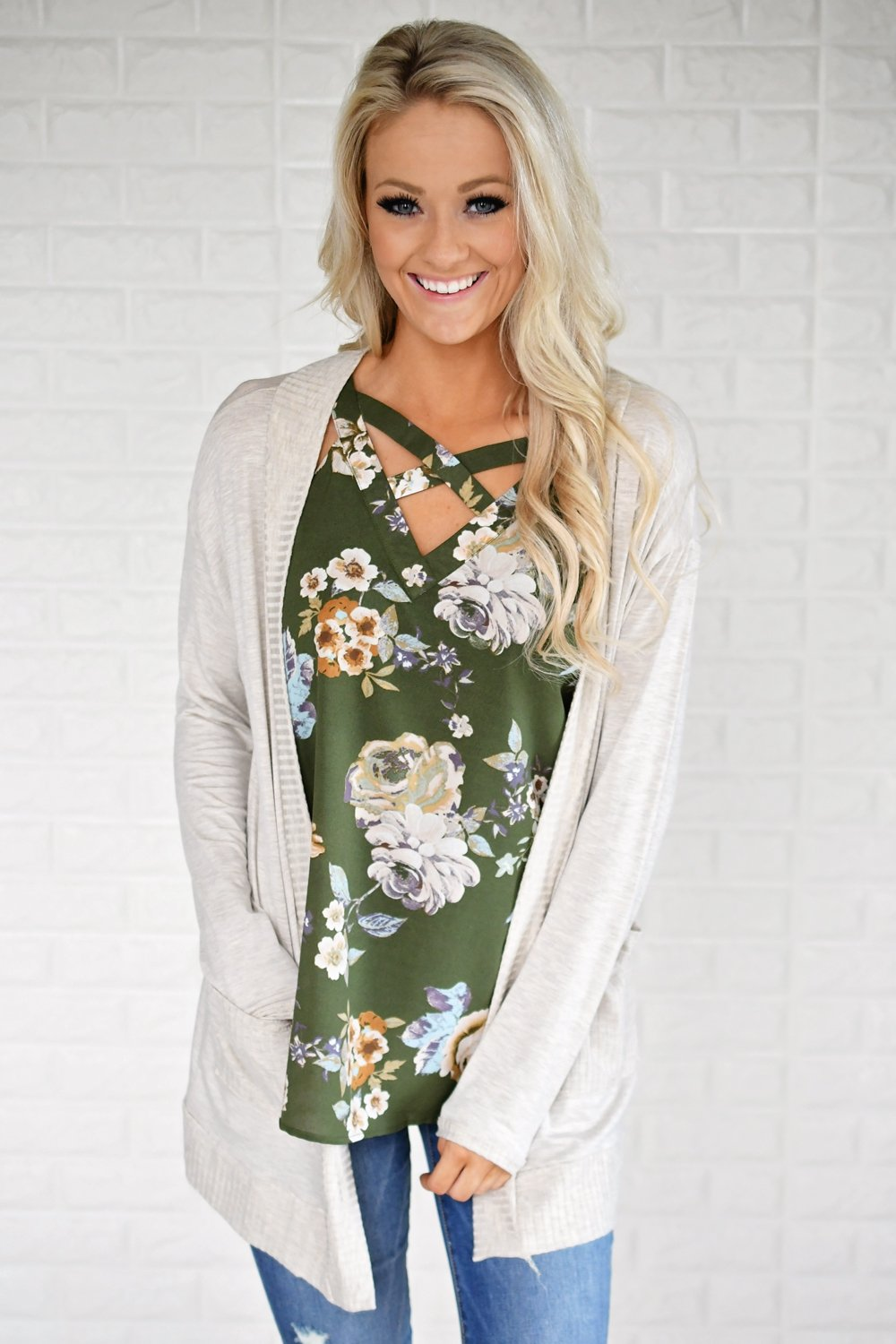 Flirting in Floral Tank Top