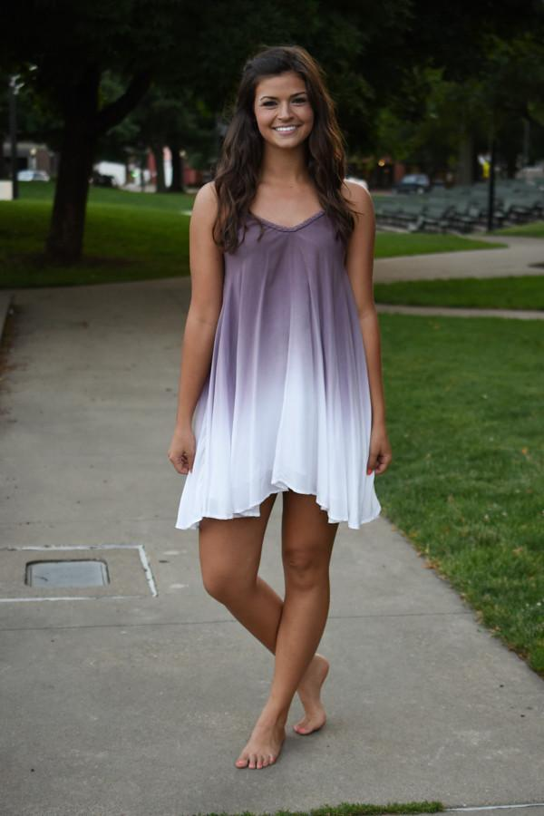 Ombre Dreams Mid Length Dress