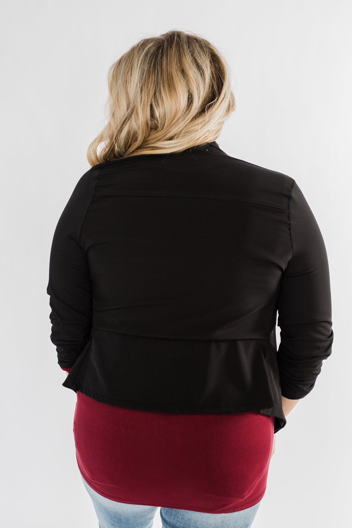 Pretty & Professional Blazer- Black