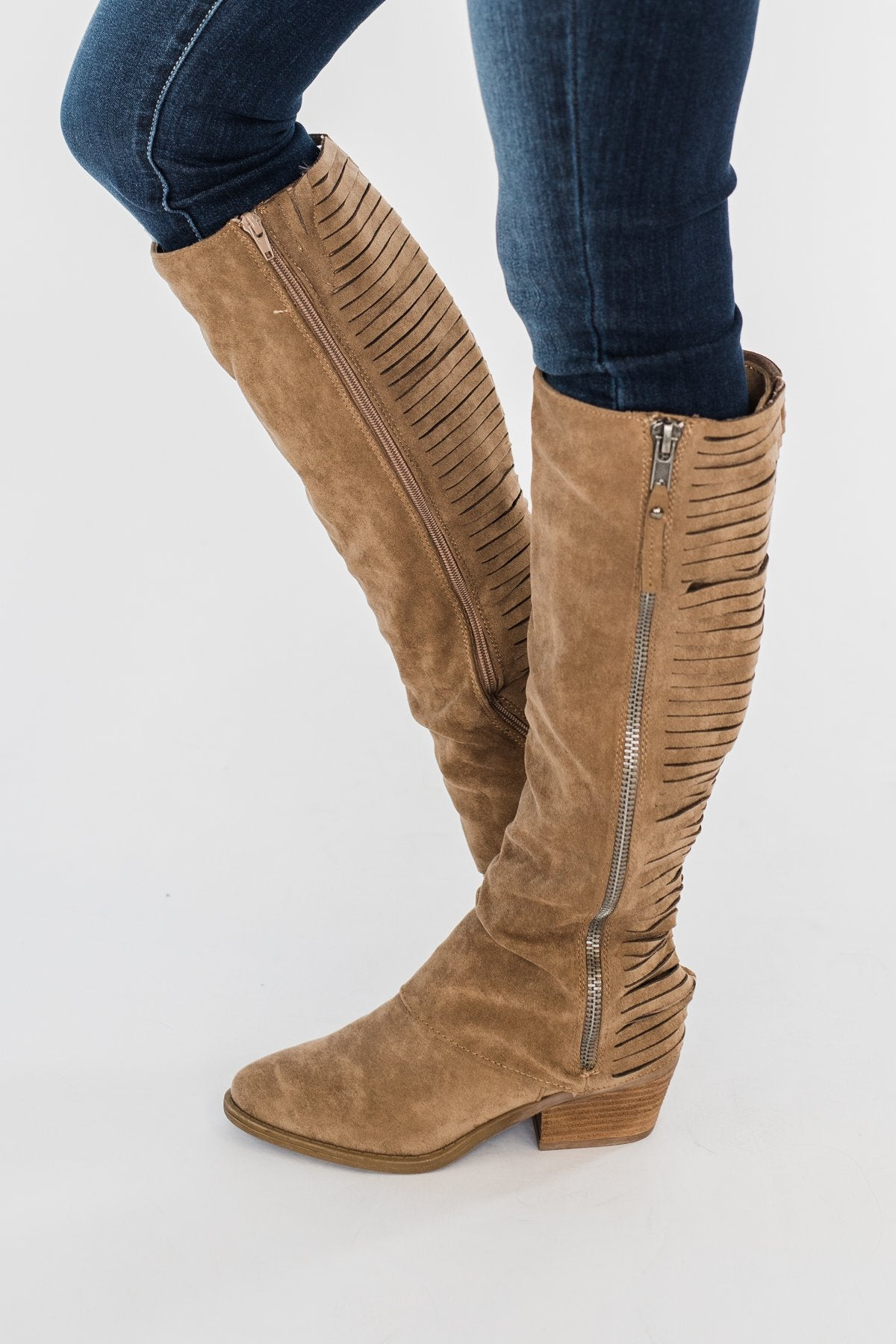 Very G Strips Galore Boots- Taupe