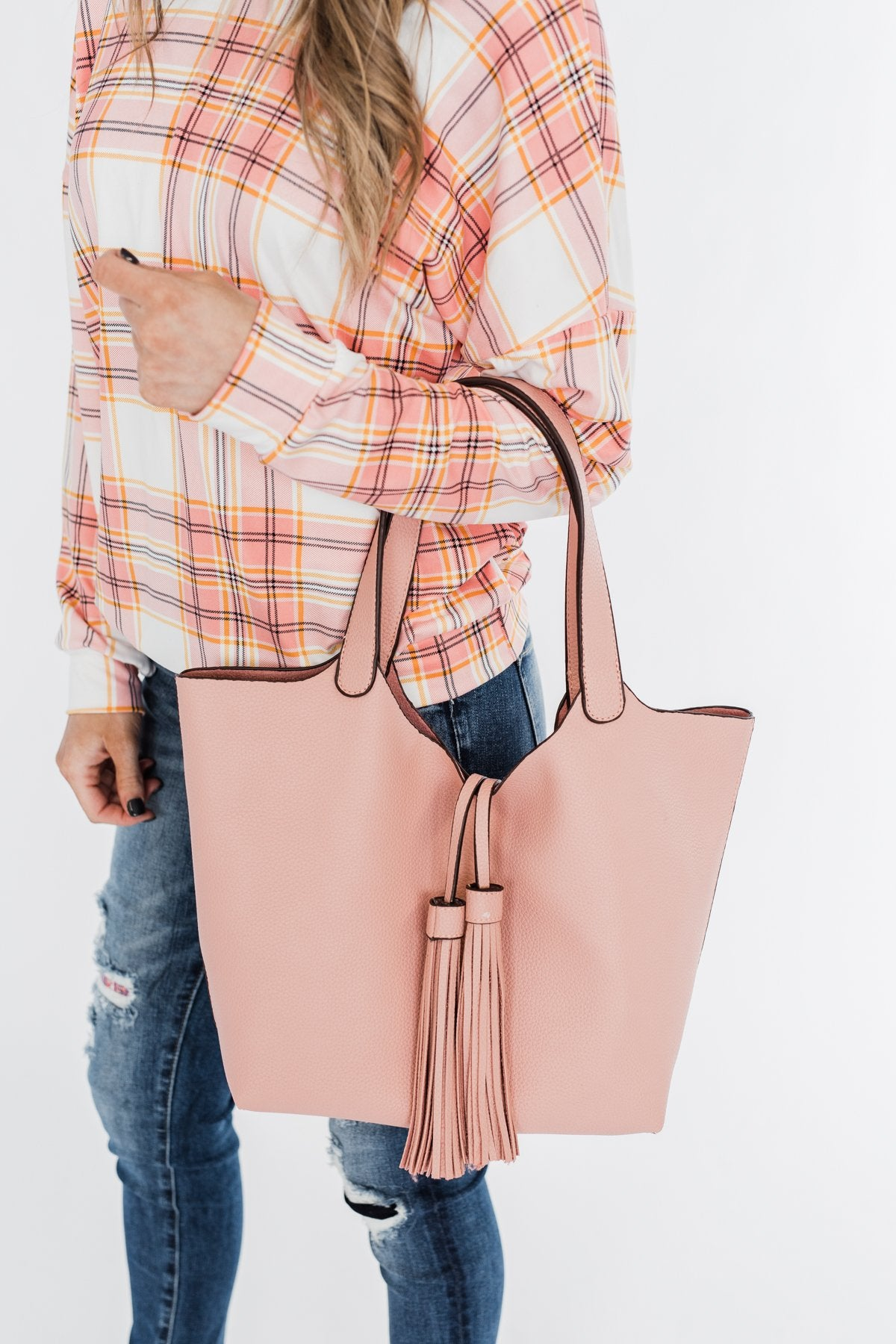 Tassel Detail Purse- Blush