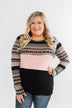 Endless Love Color Block Top- Black & Pink