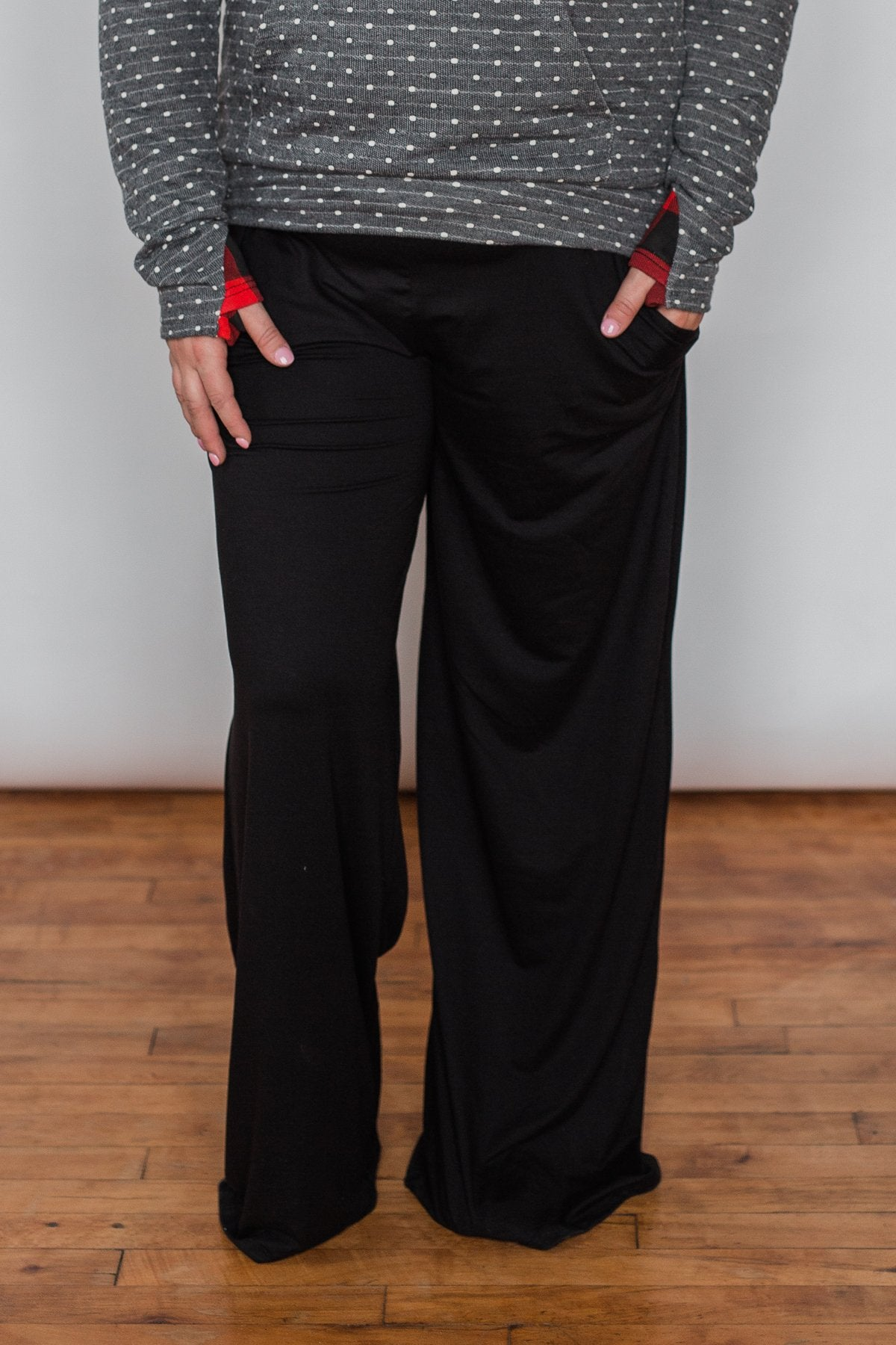 Pocket Lounge Pants - Solid Black