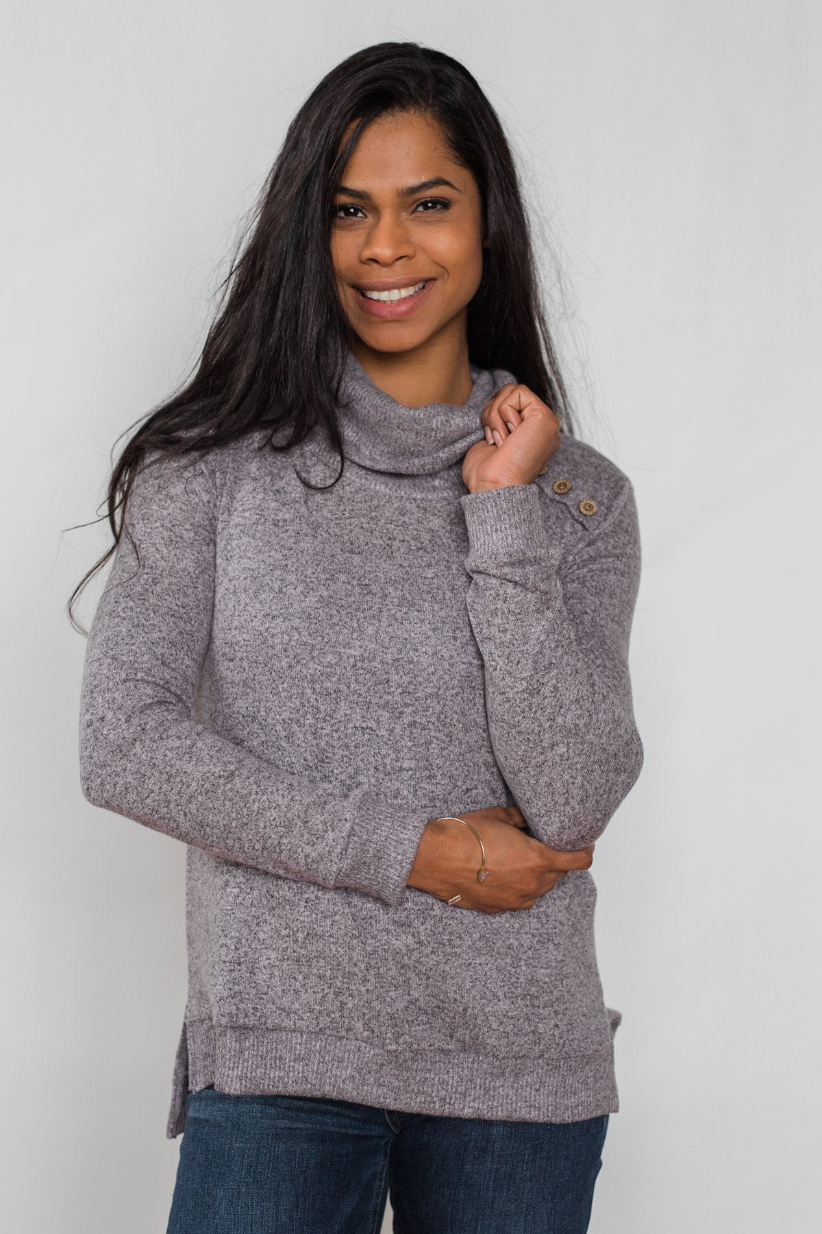 Hooked on a Feeling Cowl Neck Top - Lavender