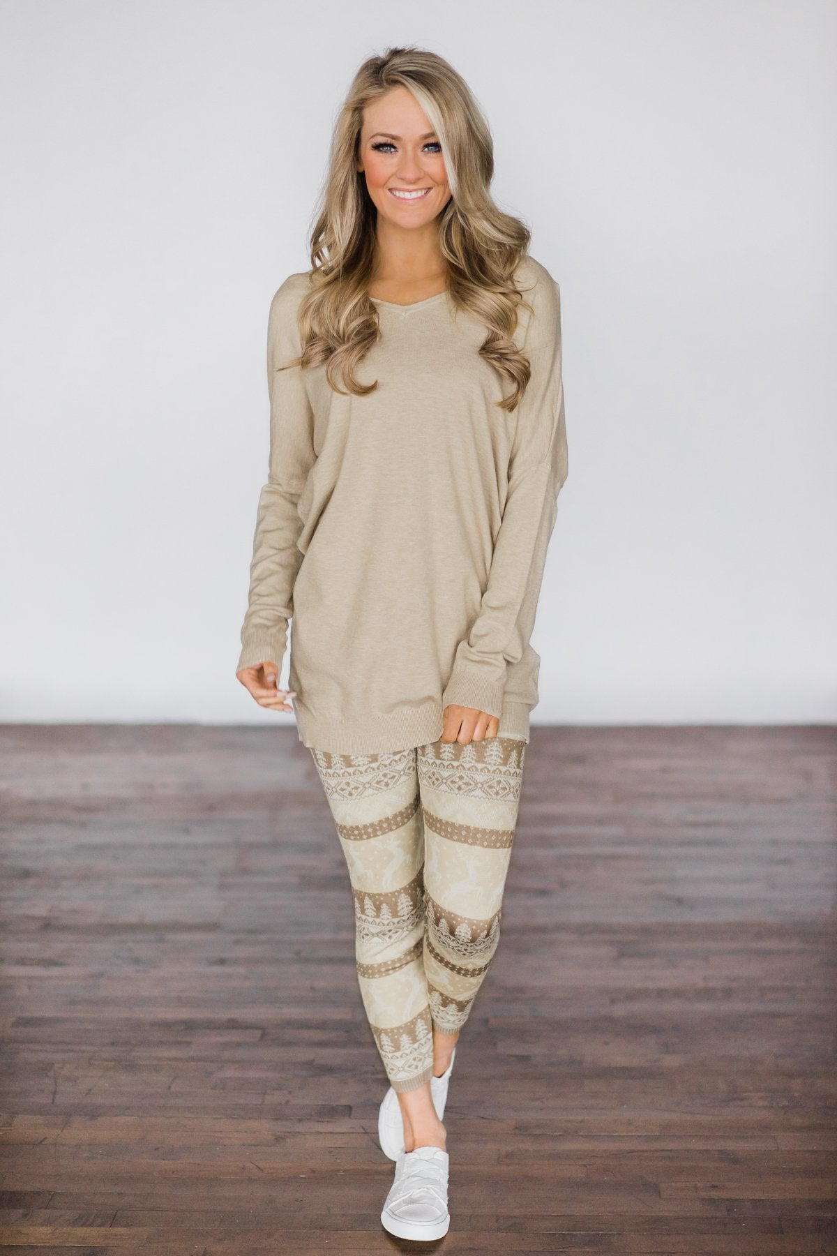 Criss Cross Back Detail Sweater - Taupe
