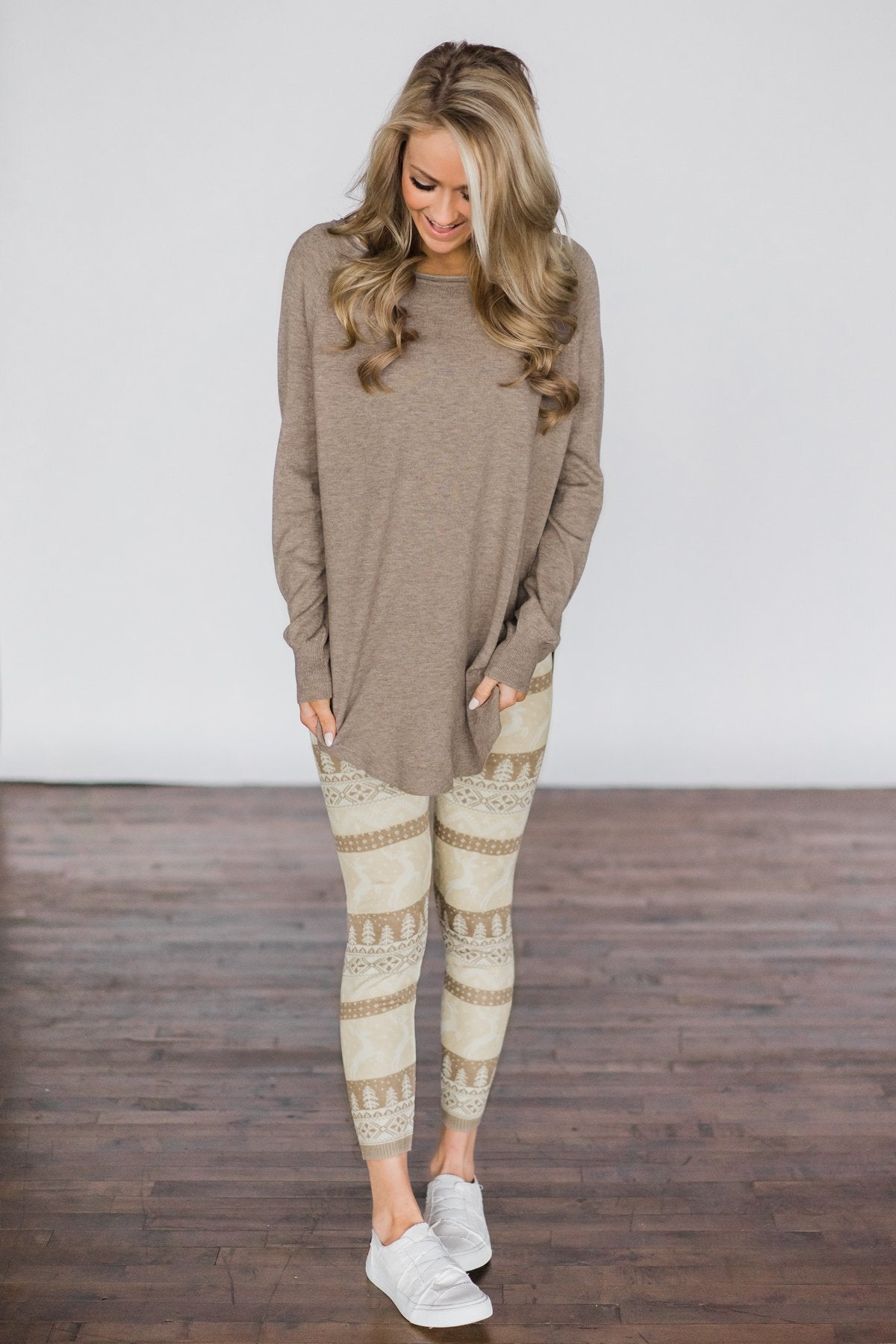 Cuddle Up Sweater - Mocha