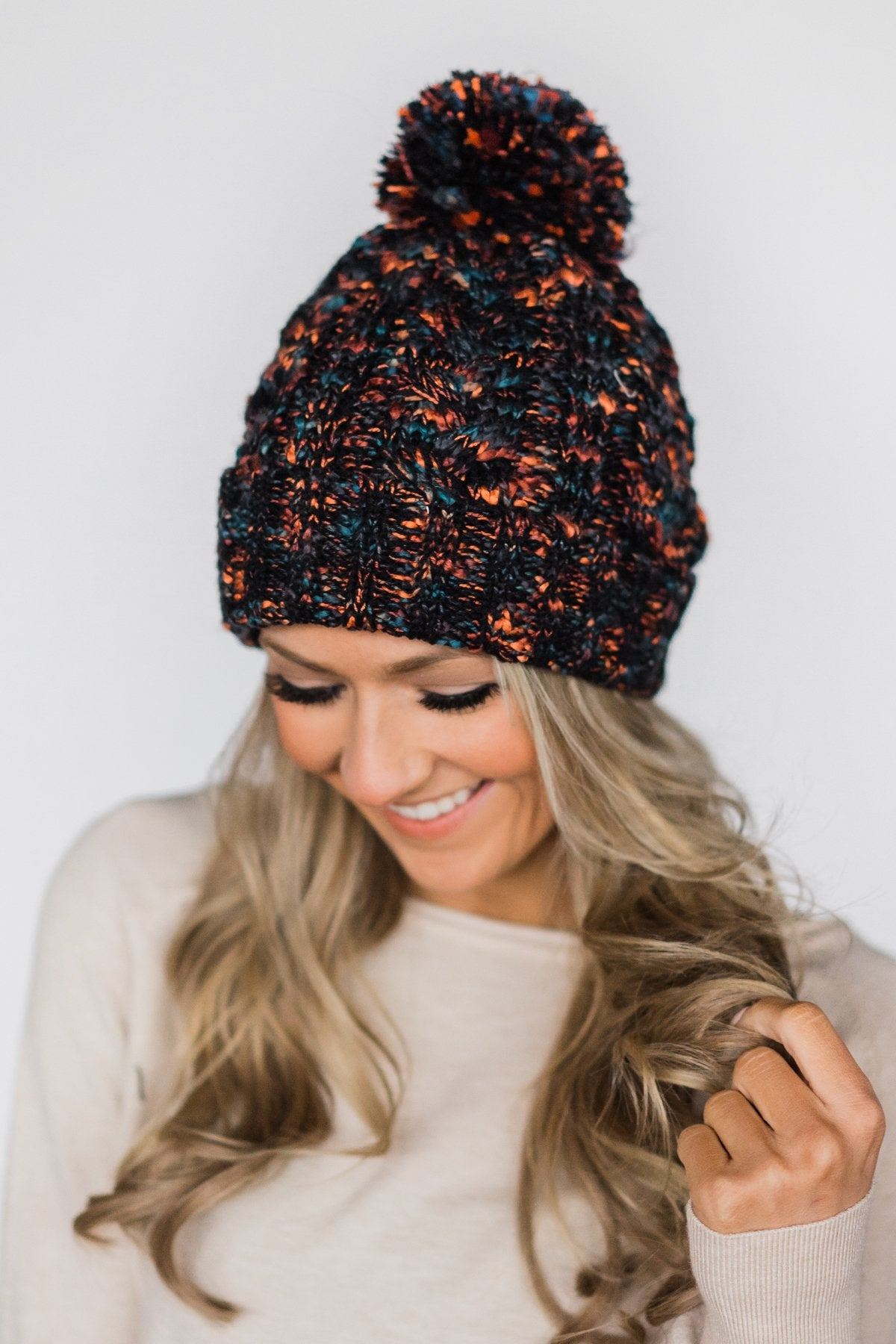 Black Speckled Pom Beanie – The Pulse Boutique ca310f823f9