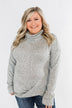 Twist of Winter Cowl Neck Top- Heather Grey