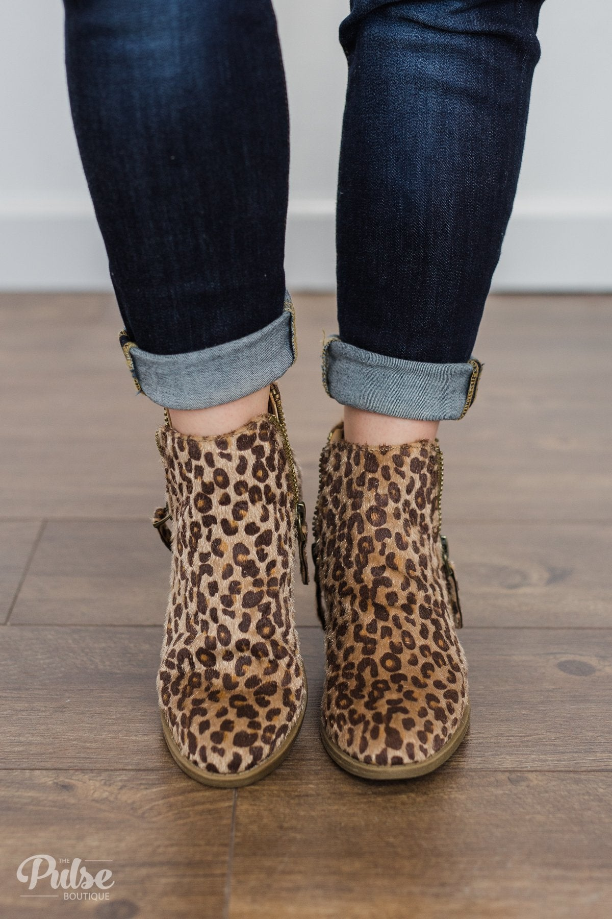 Very G Twinkle Booties- Leopard