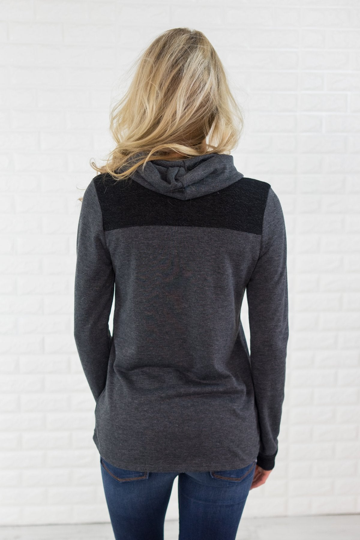 Go to Charcoal Cowl Neck