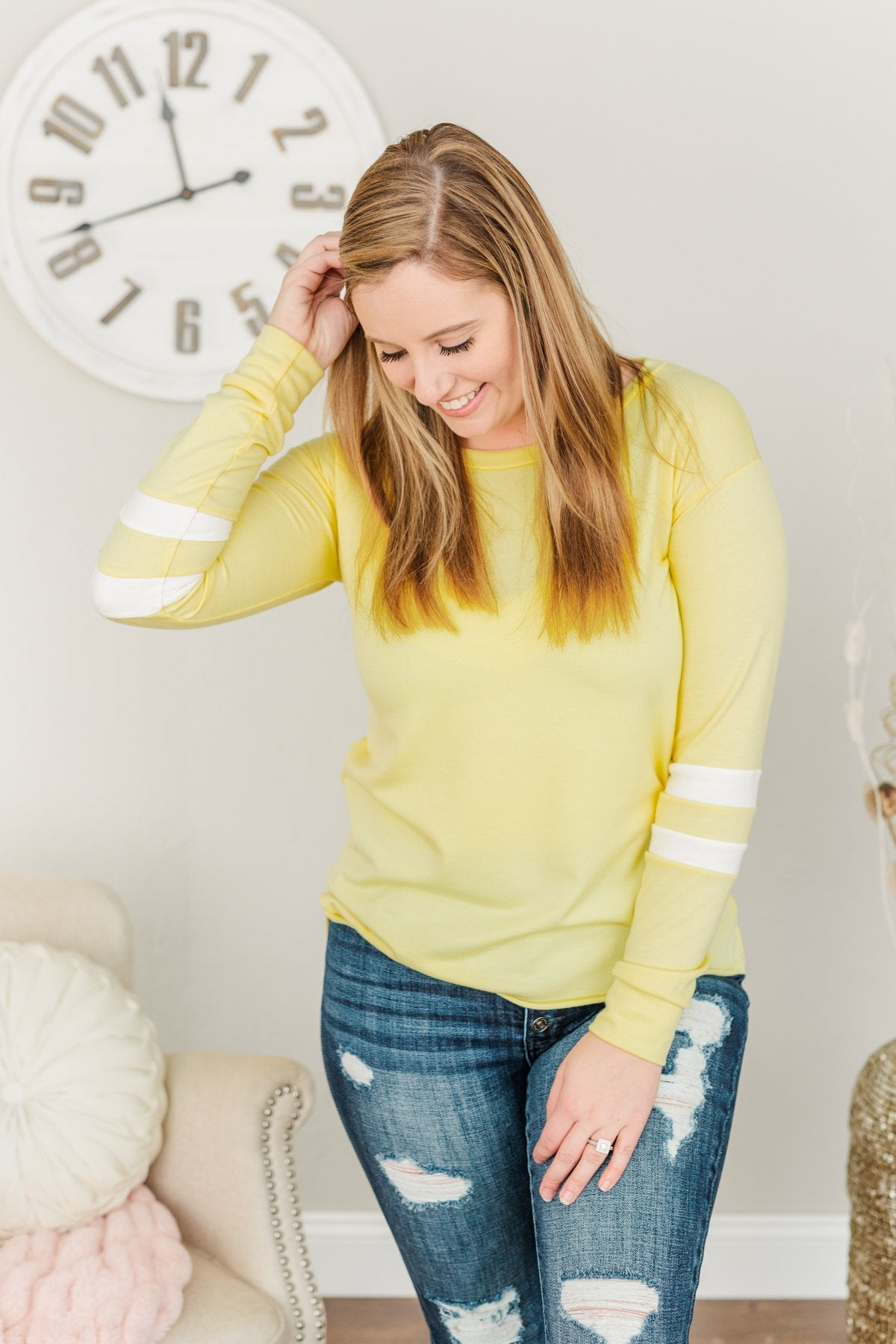 Along For The Journey Pullover Top- Yellow