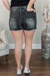 Judy Blue High Waisted Shorts- Raven Wash
