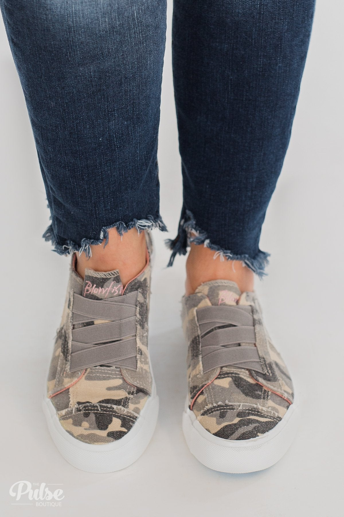 242d9f53a9b6d Blowfish Marley Sneakers- Gray Urban Camo – The Pulse Boutique