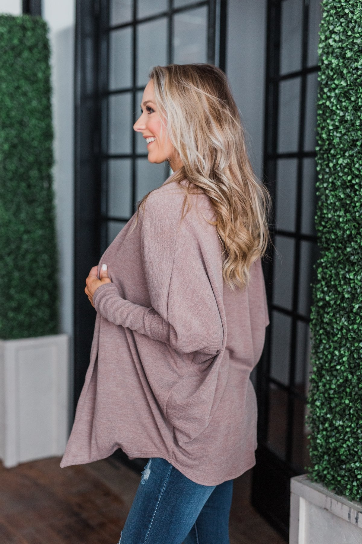 Along We Go Dolman Cardigan- Mocha