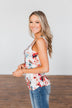 Easily Attracted Floral Tank Top- Ivory