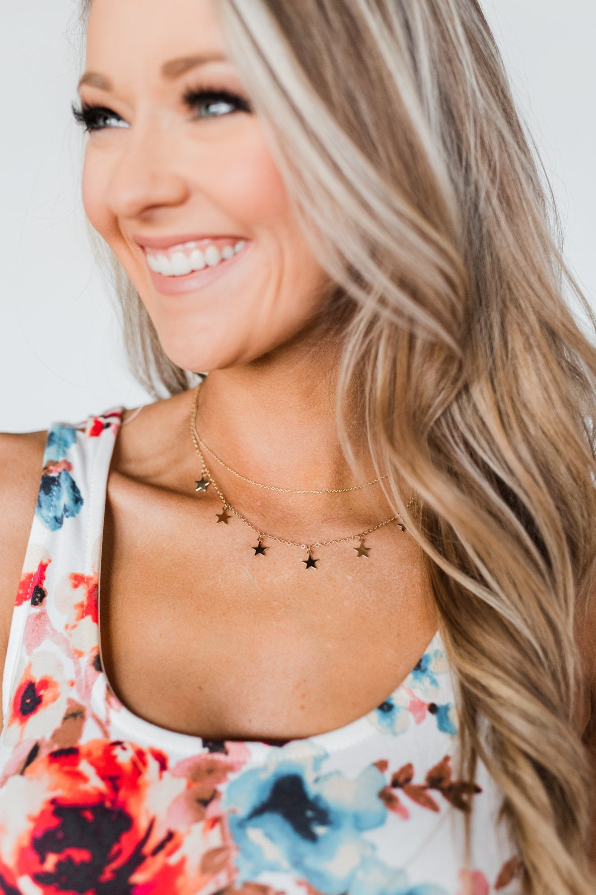 Chase The Stars Tier Necklace- Gold
