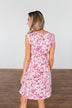 Happy Feelings Floral Dress- Ivory & Pink