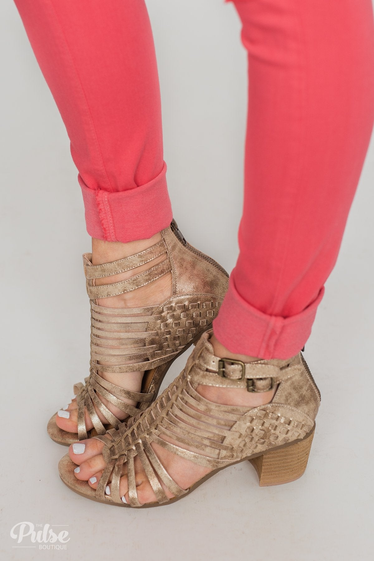Not Rated Ofanto Heels- Gold