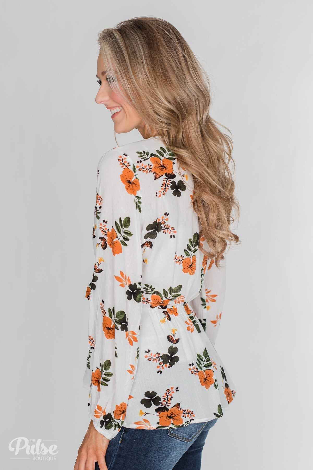Through the Fields Long Sleeve Blouse - Ivory