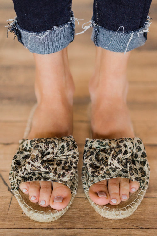 Not Rated Erra Sandals ~ Leopard