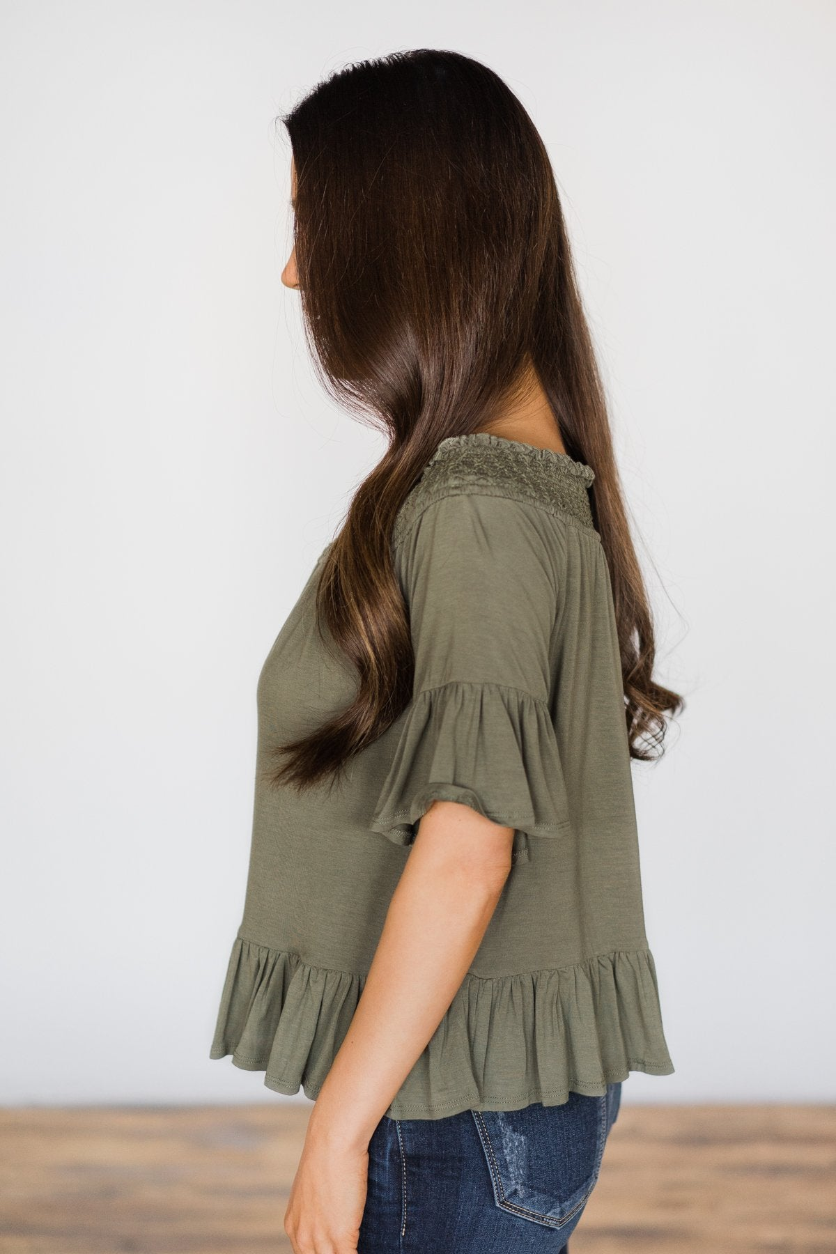 Closer to You Olive Top