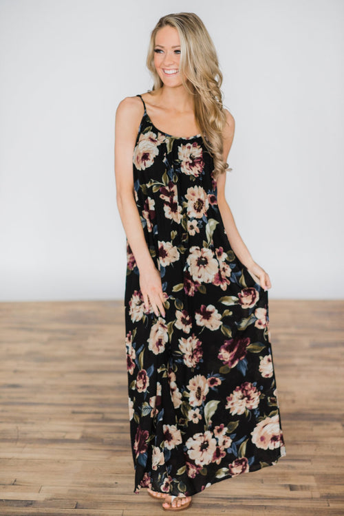 Born to Love You Floral Maxi Dress