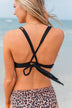 Sweet Sunshine Criss-Cross Bikini Top- Black