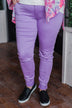 Celebrity Pink Skinny Jeans- Star Fish Purple