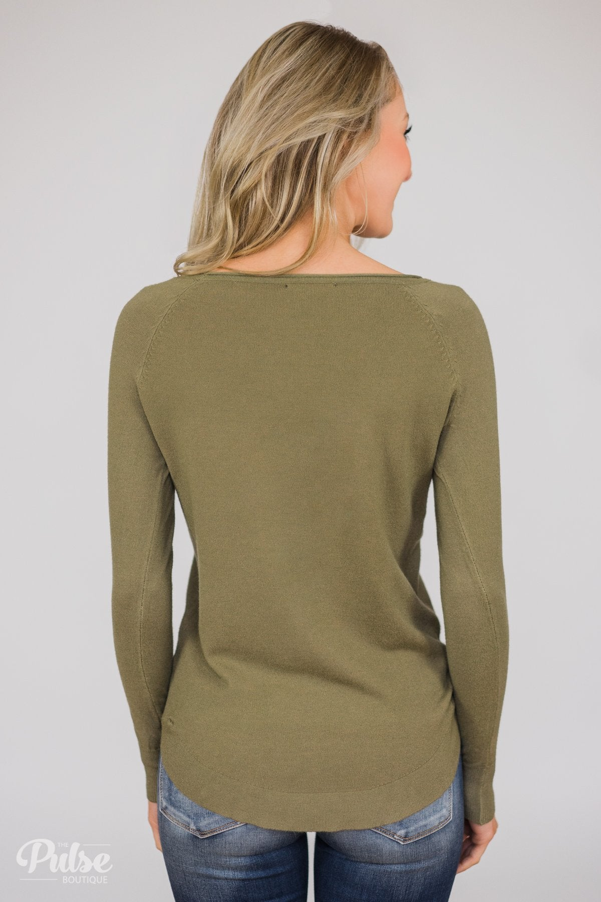 Butter Me Up Sweater - Olive