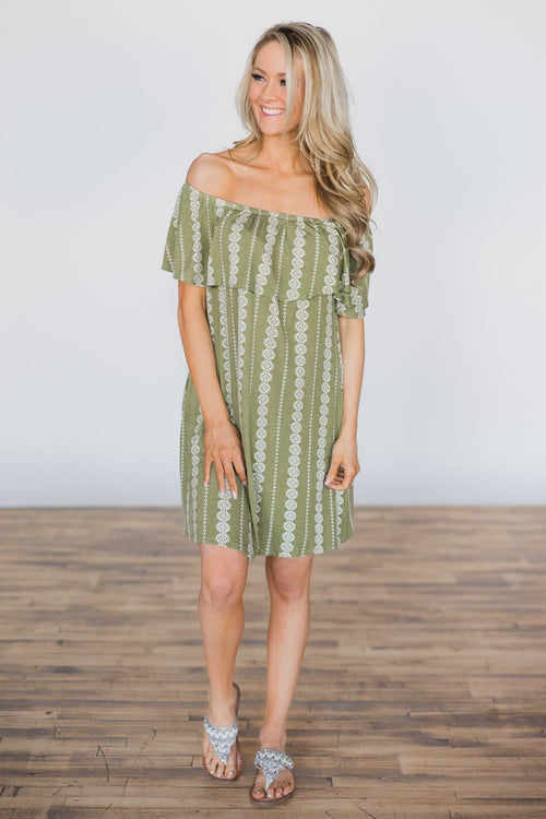 Oasis Breeze Off the Shoulder Dress