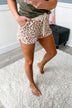 Leopard Lounge Shorts- Neutral