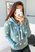 Be A Star Hoodie- Marbled Smokey Blue