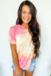 Coastal Sunset Tie Dye Top- Pink & Yellow
