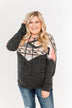 Ready For A Good Time Aztec Hoodie- Heathered Black