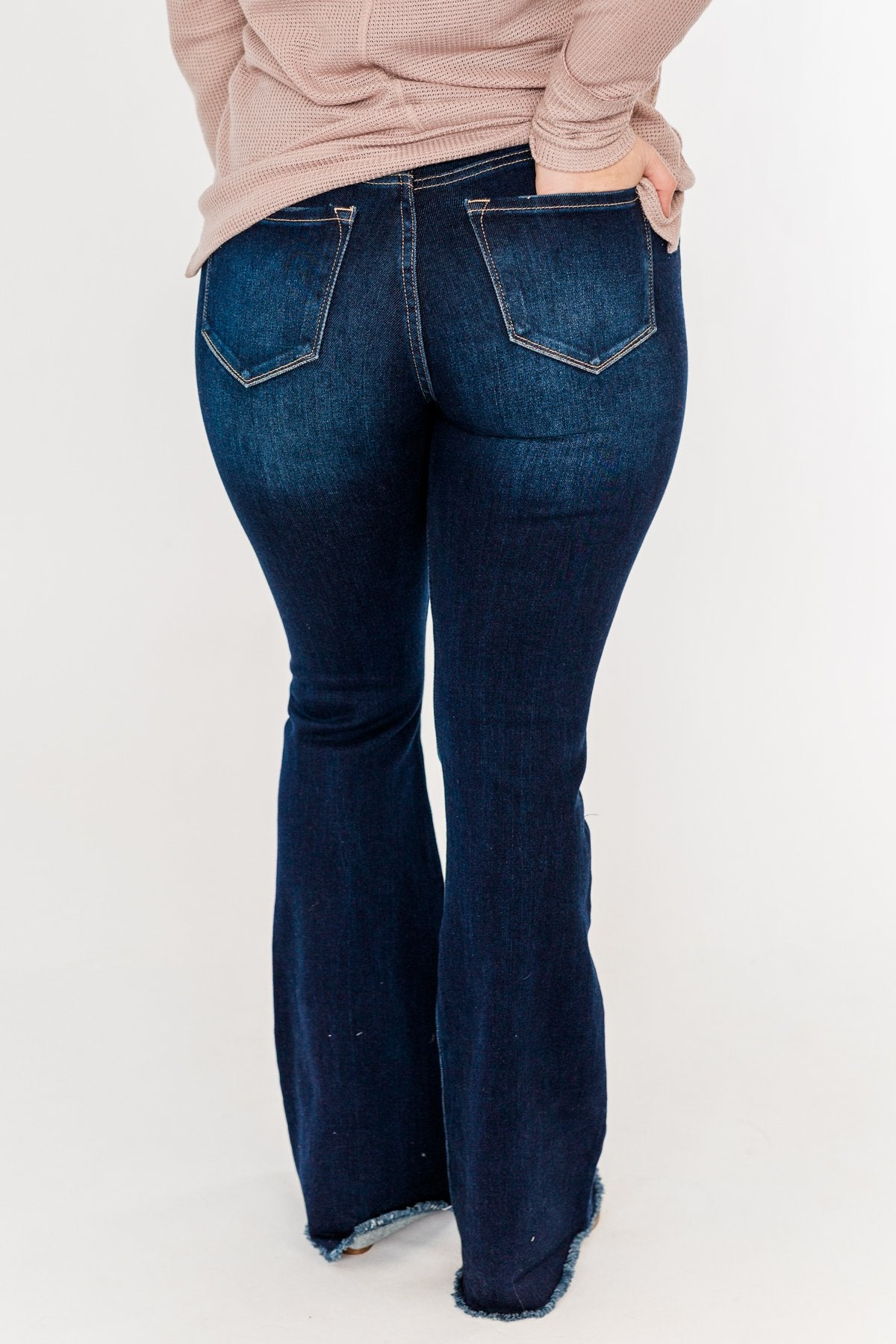 KanCan High Rise Flare Bottom Jeans- Talia Wash