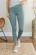 Pulse Basics Essential Athleisure Leggings- Slate Blue