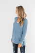 Remind Me Again Knit Sweater- Blue
