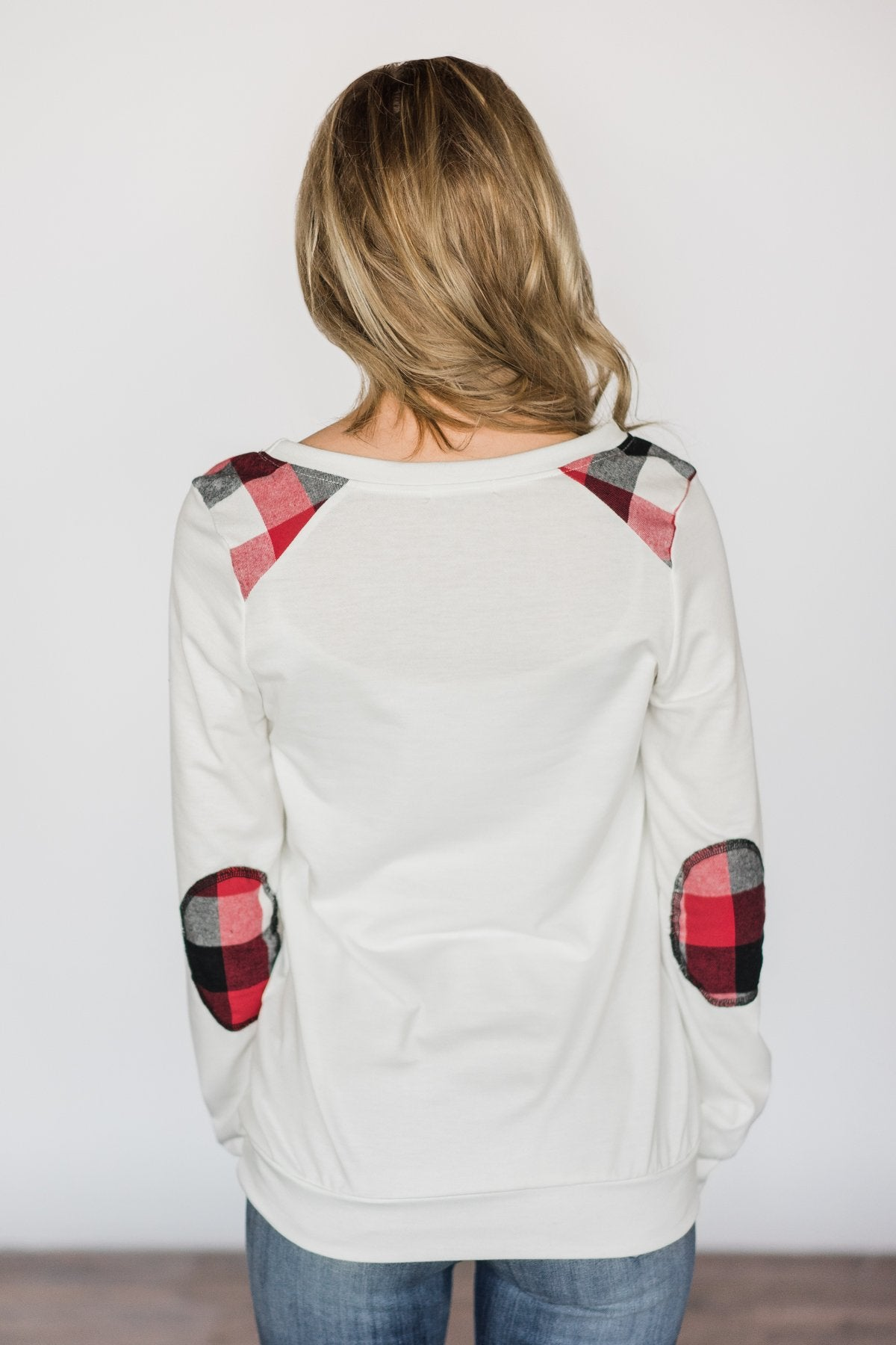 Tangled Up in Plaid Top- Ivory