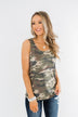 On The Hunt Back Bow Tank Top- Camo