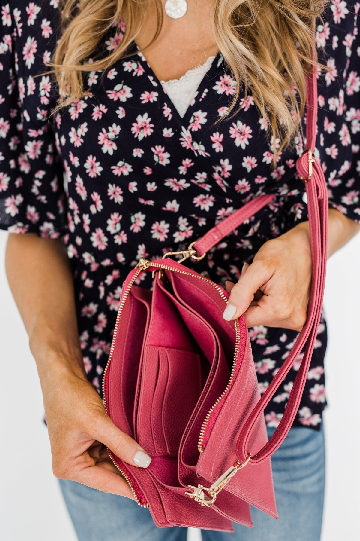 Suitable For You Clutch- Hot Pink