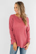 Dream About Us Knit Sweater- Lipstick Pink