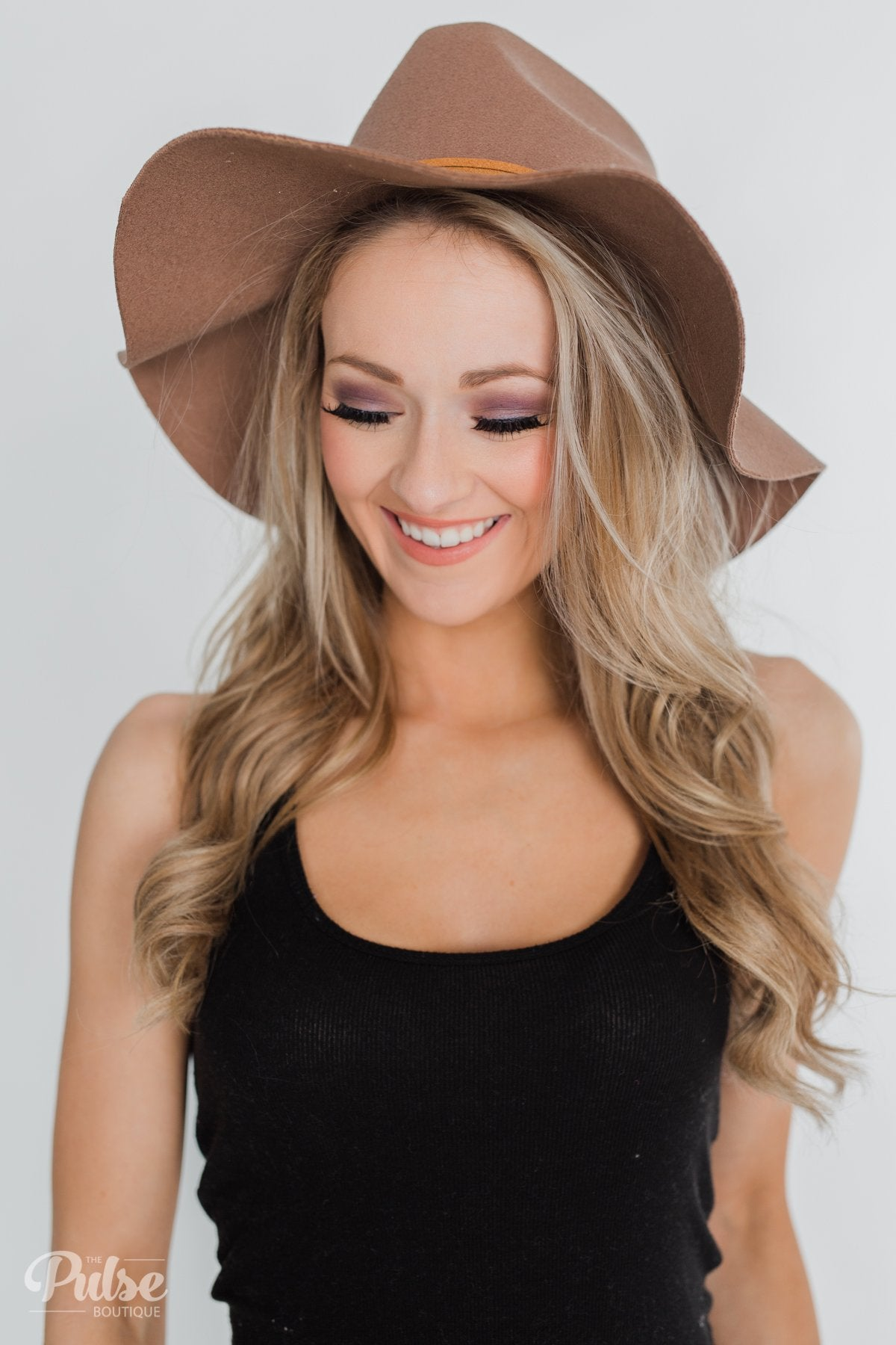 Felt Floppy Hat- Brown